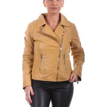 Vêtements Femme Vestes en cuir / synthétiques Giorgio Savila Jaune Jaune