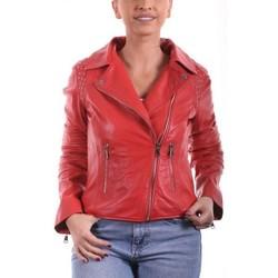 Vêtements Femme Vestes en cuir / synthétiques Giorgio Savila Coquelicot Rouge