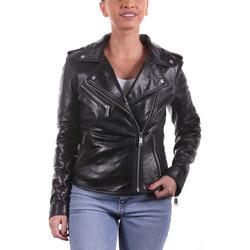 Vêtements Femme Vestes en cuir / synthétiques Ladc Enora Skull Noir Noir