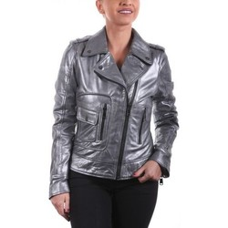 Vêtements Femme Vestes en cuir / synthétiques Ladc Georgia Metalic Silver Métalic