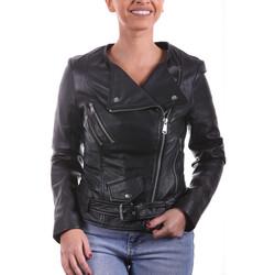 Vêtements Femme Vestes en cuir / synthétiques Ladc Helena Noir Noir