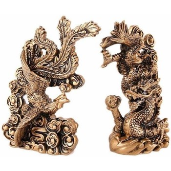 Maison & Déco Statuettes et figurines Lachineuse COUPLE DRAGON-PHENIX FENG SHUI