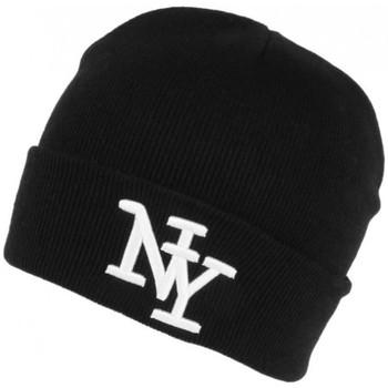 Accessoires textile Bonnets Hip Hop Honour Bonnet New York Noir et Blanc en Laine Tendance et Chaude Nevy Noir