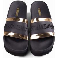 Chaussures Femme Baskets mode Thewhitebrand High twb relief gold Noir