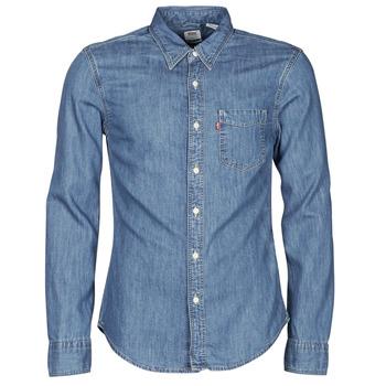 Vêtements Homme Chemises manches longues Levi's SUNSET 1 PKT SLIM Bleu