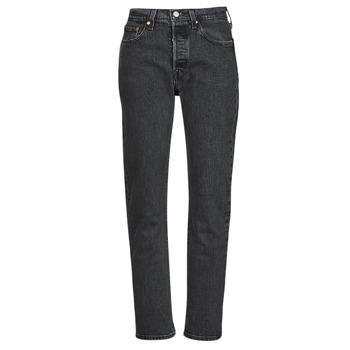 Vêtements Femme Jeans boyfriend Levi's 501 CROP Noir