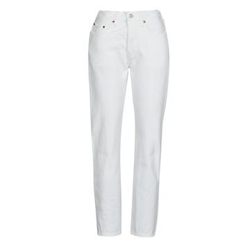 Vêtements Femme Jeans boyfriend Levi's 501 CROP Blanc
