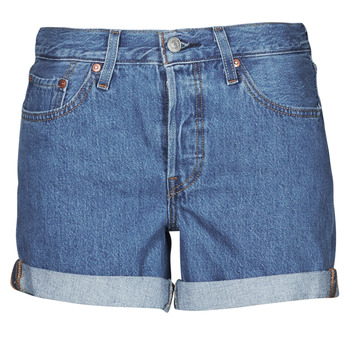 Vêtements Femme Shorts / Bermudas Levi's 501 ROLLED SHORT Bleu