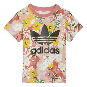 Vêtements Fille T-shirts manches courtes adidas Originals GN2262 Multicolore