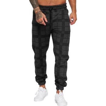 Vêtements Homme Pantalons de survêtement Cabin Jogging homme à carreaux Jogging R1228 gris foncé Gris