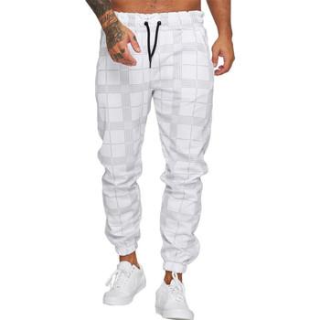 Vêtements Homme Pantalons de survêtement Cabin Jogging homme à carreaux Jogging R1228 blanc Blanc