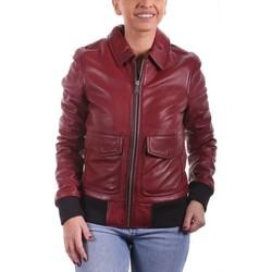 Vêtements Femme Vestes en cuir / synthétiques Ladc Dorine Rouge Rouge