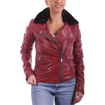 Vêtements Femme Vestes en cuir / synthétiques Ladc Mary Rouge Rouge