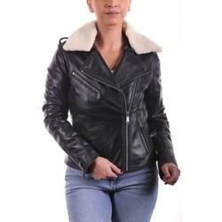 Vêtements Femme Vestes en cuir / synthétiques Ladc Betty Perfecto Noir Noir