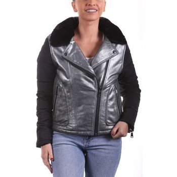 Vêtements Femme Vestes en cuir / synthétiques Ladc La Clusaz Argent Manches Noir Noir