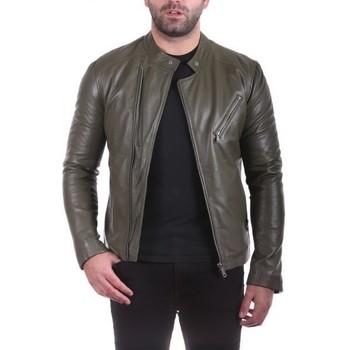 Vêtements Homme Vestes en cuir / synthétiques Ladc Jason Olive Olive