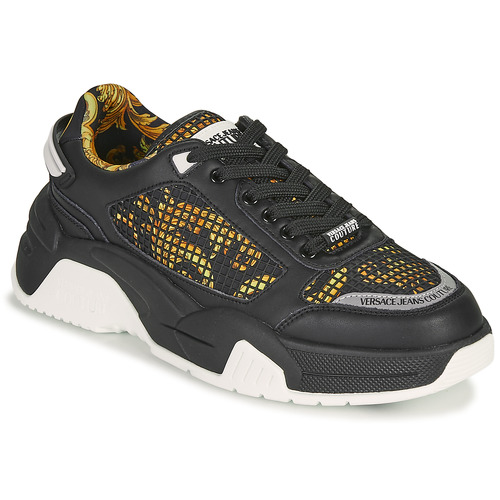 Chaussures Homme Baskets basses Versace Jeans Couture HATINA Noir
