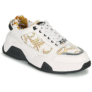Chaussures Homme Baskets basses Versace Jeans Couture HATINA Blanc / Doré