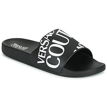 Chaussures Homme Claquettes Versace Jeans Couture TENNIA Noir / Blanc