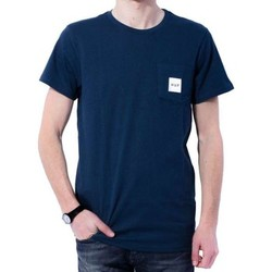 Vêtements Homme T-shirts manches courtes Huf T-Shirt Box Logo Pocket Navy Bleu