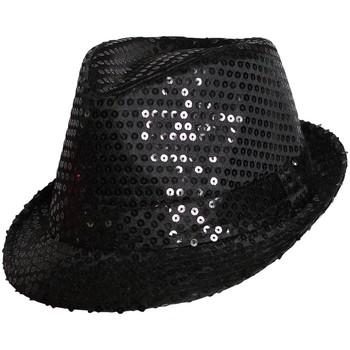 Accessoires textile Chapeaux Chapeau-Tendance Chapeau de fête paillettes Noir