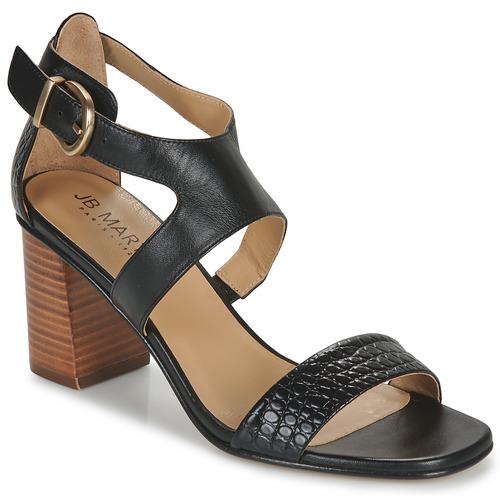 Chaussures Femme Sandales et Nu-pieds JB Martin 1NAWELI Noir / Gris