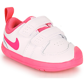 Chaussures Fille Baskets basses Nike PICO 5 TD Blanc / Rose