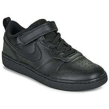 Chaussures Enfant Baskets basses Nike COURT BOROUGH LOW 2 PS Noir