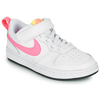 Chaussures Fille Baskets basses Nike COURT BOROUGH LOW 2 PS Blanc / Rose