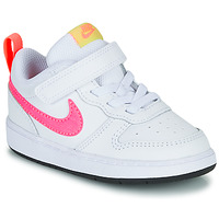 Chaussures Fille Baskets basses Nike COURT BOROUGH LOW 2 TD Blanc / Rose