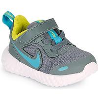 Chaussures Garçon Multisport Nike REVOLUTION 5 TD Gris / Bleu