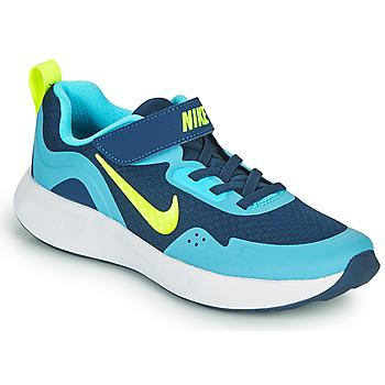 Chaussures Garçon Multisport Nike WEARALLDAY PS Bleu / Vert