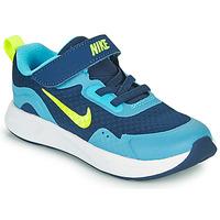 Chaussures Garçon Multisport Nike WEARALLDAY TD Bleu / Vert