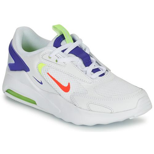 Nike AIR MAX BOLT GS Blanc / Bleu - Livraison Gratuite   Sb ...