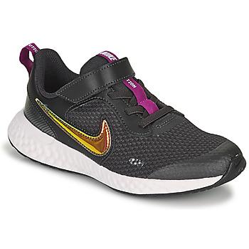 Chaussures Fille Baskets basses Nike REVOLUTION 5 SE PS Noir