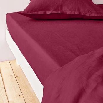 Maison & Déco Draps housse Baton Rouge Drap Housse 140x190 Métis de lin et coton Gris