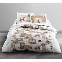 Maison & Déco Parures de lit Today Parure de housse de couette 240x220 coton SNOW DEER Blanc