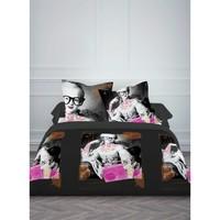 Maison & Déco Parures de lit Today Parure de housse de couette 240x220 coton OPERA ROCK Noir