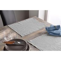 Maison & Déco Nappe Baton Rouge Serviette de table 45x45 Métis de lin et coton Bleu