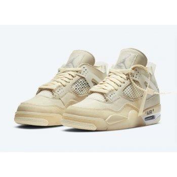 Chaussures Baskets montantes Nike Air Jordan 4 Sail x Off White  Sail/White/Black/Muslin