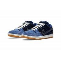 Chaussures Baskets basses Nike SB Dunk Low  Sashiko Mystic Navy/Mystic Navy-Gum Light Brown-Sail
