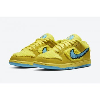 Chaussures Baskets basses Nike SB Dunk Low x Grateful Dead Yellow Opti Yellow/Blue Fury