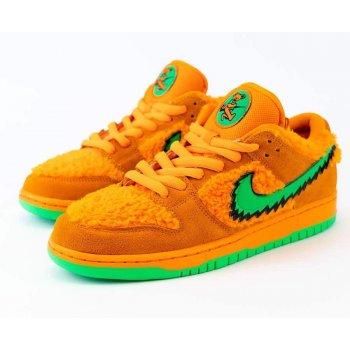 Chaussures Baskets basses Nike SB Dunk Low x Grateful Dead Orange Bright Ceramic/Green Spark