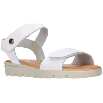 Chaussures Fille Sandales et Nu-pieds Valeria's 6404 BLANCO PLANTA CUERO Niña Blanco blanc