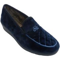 Chaussures Femme Chaussons Aguas Nuevas Baskets femme fermées avec broderie sur azul