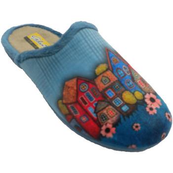 Chaussures Femme Chaussons Aguas Nuevas Tongs femme ouverte de derrière les mais azul