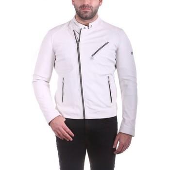 Vêtements Homme Vestes en cuir / synthétiques Ladc Jason Blanc Aubergine