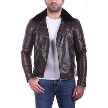 Vêtements Homme Vestes en cuir / synthétiques Ladc Jack Marron Marron