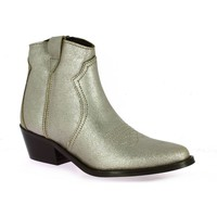 Chaussures Femme Boots So Send Boots cuir laminé Taupe