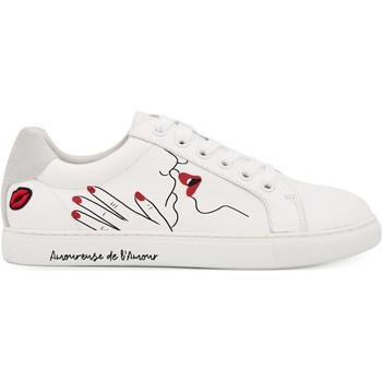 Chaussures Femme Baskets mode Bons Baisers De Paname Simone Artdesmaux Amoureuse BLANC